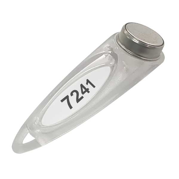 The Thermochron Clear Fob with uniquely numbered insert